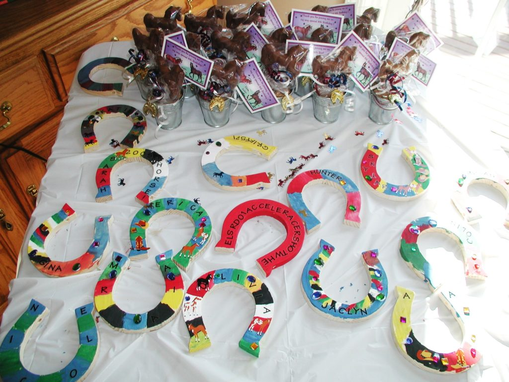 Horse theme birthday party kids birthday parties for Crafts for birthday parties