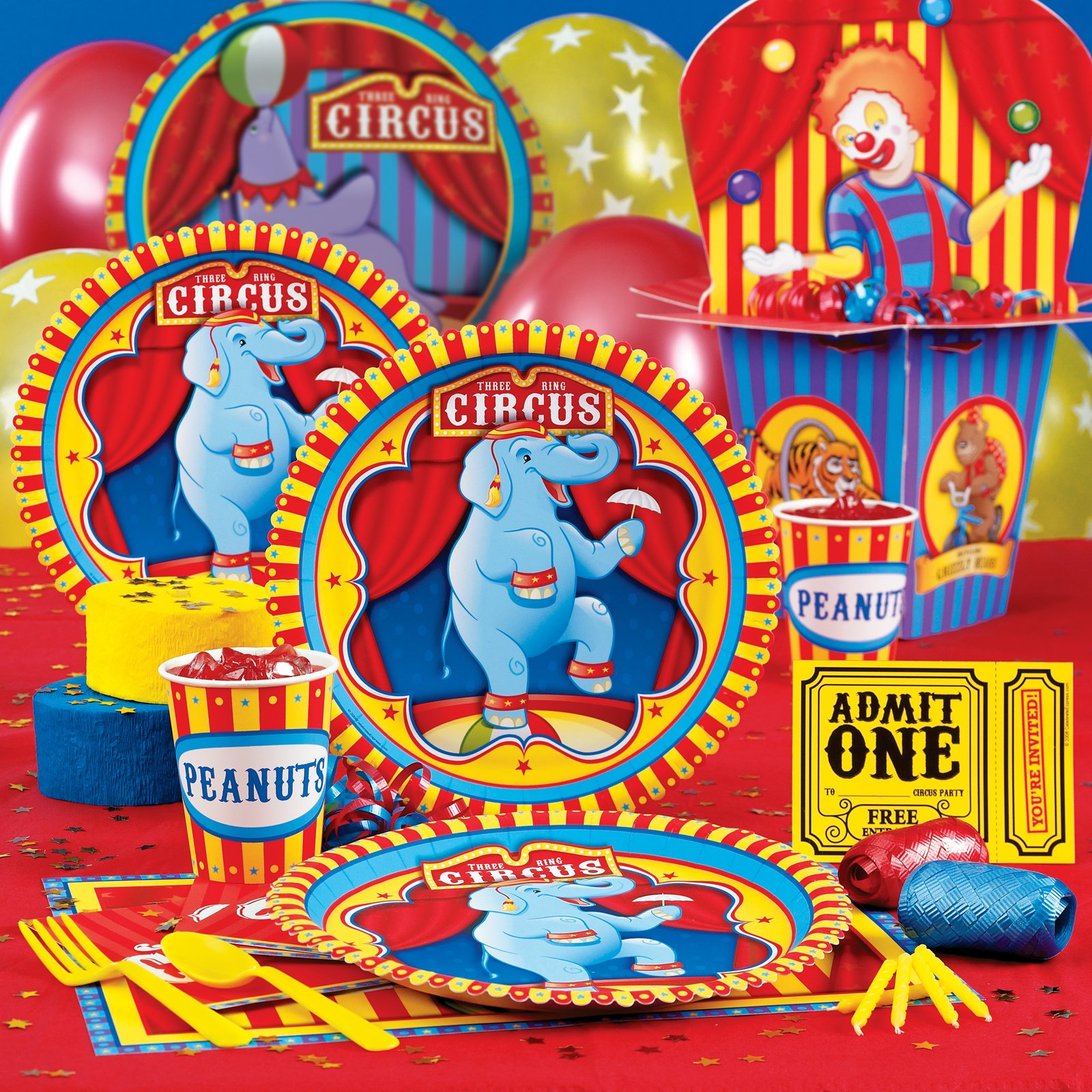 Carnival Circus Clown Theme Birthday Party
