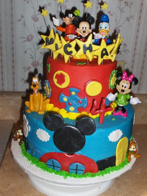 On How To Make A Mickey Mouse Birthday Cake This Birthday Cake Page