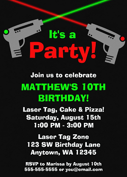 9f4932e60efd Laser Tag Birthday Party – Kids Birthday Parties
