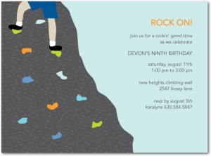 Rock Climbing Invitations Archives Kids Birthday Parties