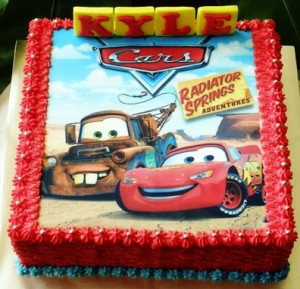 Disney Cars Cakes and Cupcakes Kids Birthday Parties
