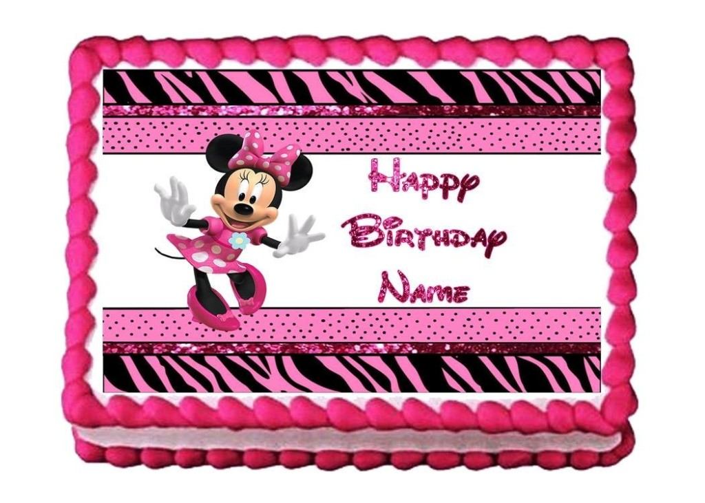 Minnie Mouse Zebra Party Supplies Kids Birthday Parties