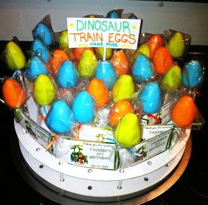 I Love These Dinosaur Egg Cake Pops They Are A New Twist On The Classic Pop Shannon Made As Favors For Adults At Party