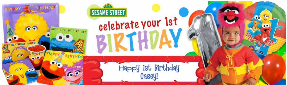 Maxs Sesame Street 1st Birthday Party