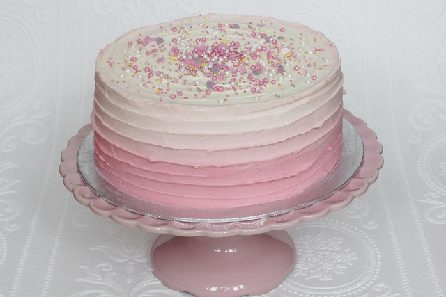 Pink Ombre Frosting Designs