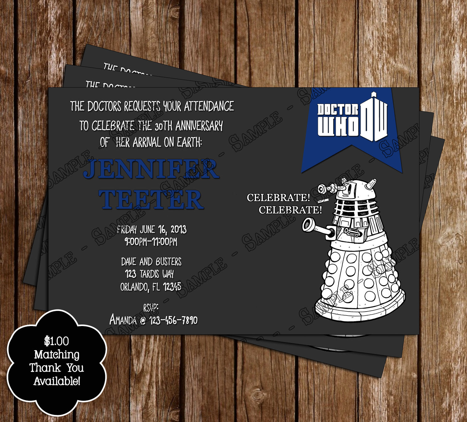 Doctor Who Party Supplies Kids Birthday Parties