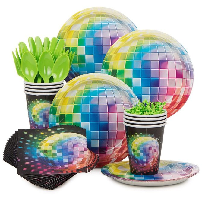 Disco Ball Party Decorations: 70's Disco Dance Ball Cakes And Cupcakes